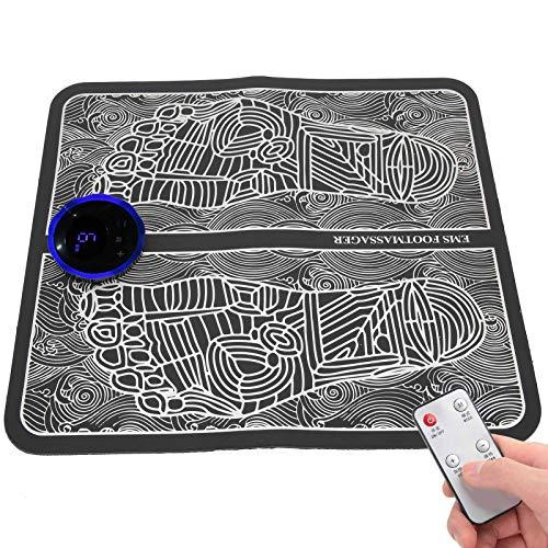 Fußmassagegerät USB Wiederaufladbares elektrisches Fußstimulator-Massagegerät, Ems Beinumformungs-Fußmassagegerät 6 Modi 9 Intensität verbessert die Durchblutung, entspannt Steifheit Muskeln lindern