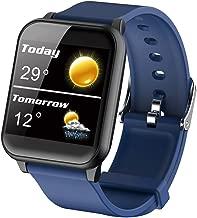 Smart Bracelet Watch Blood Pressure Heart Rate Monitor, Bluetooth Sports Bracelet, Elderly Sleep Monitoring Health Monitor-Blue