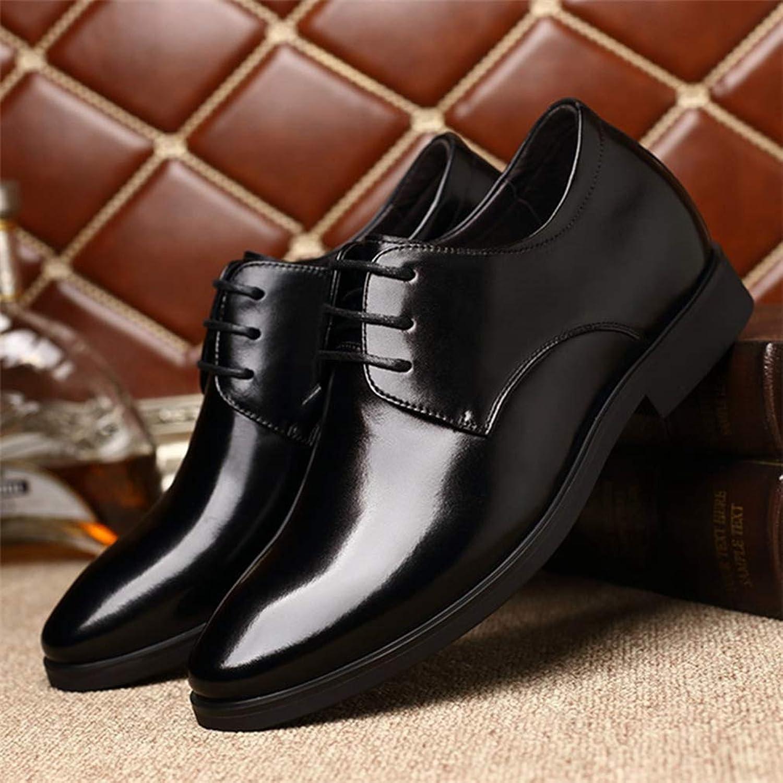 ビジネスシューズ 6cm身長アップ 靴 メンズ 黒 ブラック ブラウン 紐靴 外羽根 ビジネス靴 レースアップ プレーントゥ インヒール 革靴 シークレットシューズ ヒールアップ 紳士靴 フォーマル 結婚式 冠婚葬祭