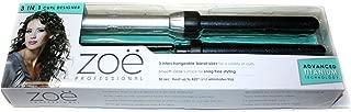 Zoe Professional 3-in-1 Hair Curler Advanced Titanium Technology Designer Curling Iron Wand