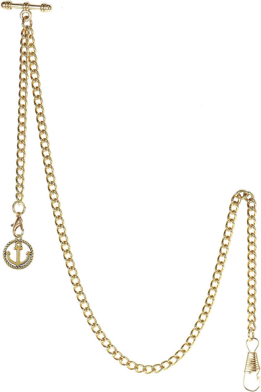 TREEWETO Men's Albert Popular popular Chain Pocket Watch New product!! 2 Curb Link Key H