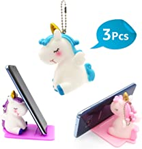 3 Pack Unicorn Phone Stand/Keychains/Squishies for Party Supplies - Multi-Functional Phone Holder - Desktop Cell Phone Adjustable Stand - Gift for Girls and Unicorn Theme Party (Unicorn/Keychains)