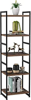 Bookcase 5-Tier Bookshelf Freestanding Display Stand Storage Book Shelves Tall Shelving Unit for Living Room Kitchen 45x35...