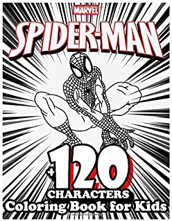 Spiderman Coloring Book for Kids +120 Characters: Amazing 120 Pages Coloring Book large With illustrations Great Coloring ...