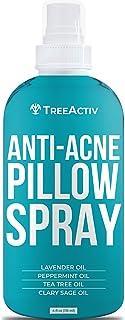 TreeActiv Anti-Acne Pillow Spray | Pimple Prevention & Freshener for Pillowcases, Bedding, Blanket, Fabric, & Linen Sheets | Aromatherapeutic Sleeping Mist with Pure Tea Tree Oil | 1000+ Sprays