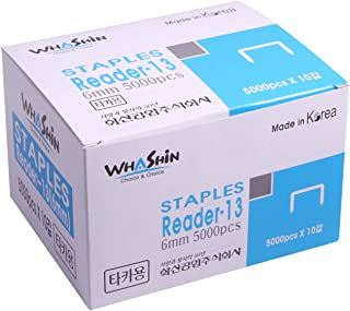 WHASHIN R13/06 Staples for Use with Whashin 107 Gun Tacker and Other Gun Tacker, Office, Fur, Furniture, Architectural and Interior, 10 Boxes of 5,000 Staples