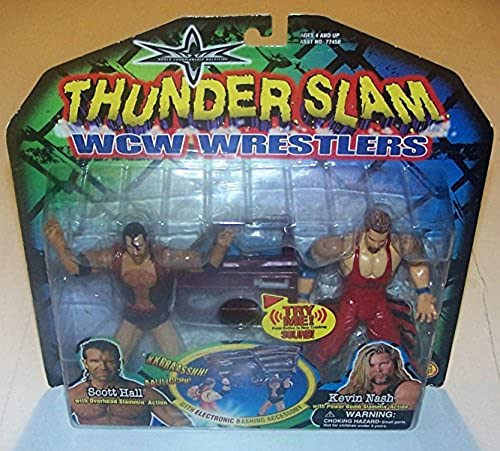 Vintage WCW NWO (WWE) Wrestling Actionfiguren 2-Pack  POWER SLAM THE OUTSIDERS - SCOTT HALL & KEVIN NASH