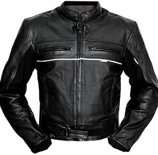 4LIMIT Sports 100800000102 Chaqueta para Moto de Cuero, Negro, XS