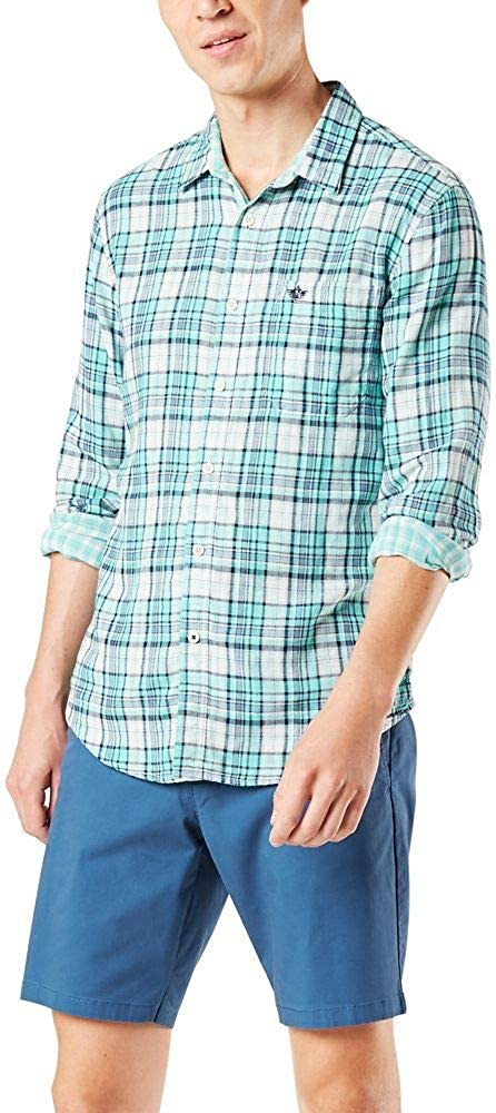 Super-cheap low-pricing Dockers Men's Long Sleeve Cloth Double Shirt