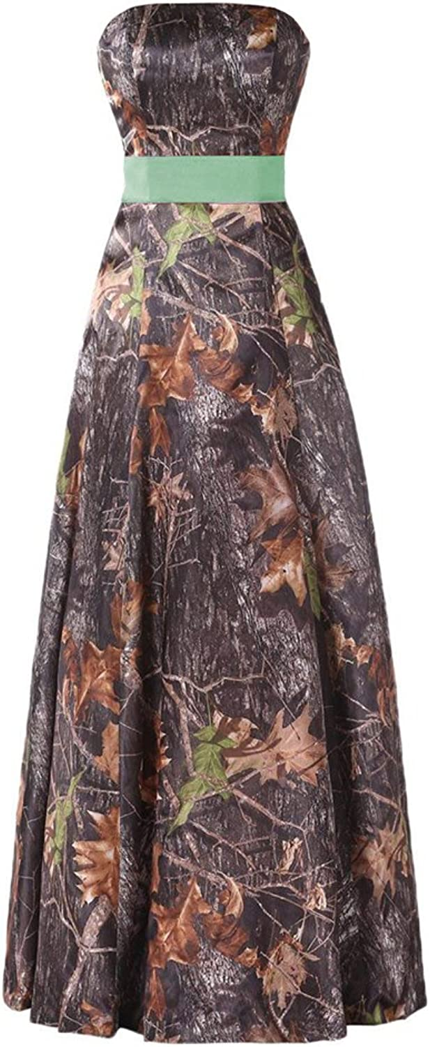 CiONE Long Camo Wedding Dress Homecoming Dress Sleeveless