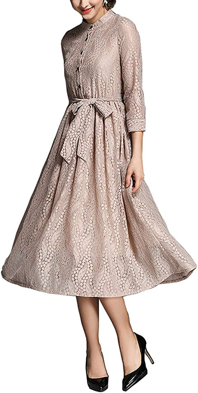 Bon Soir Women's Long Lace Evening Dress Slim High Illusion Prom Dresses