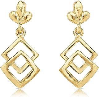 WHP Jewellers 22KT Yellow Gold Drop Earrings For Women & Girls