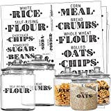 Talented Kitchen 154 Farmhouse Pantry Labels – 154 Kitchen Pantry Names – Food Stickers, Water Resistant Pantry Labels for Containers, Jar Labels Pantry Organization and Storage (154 Farmhouse Pantry)