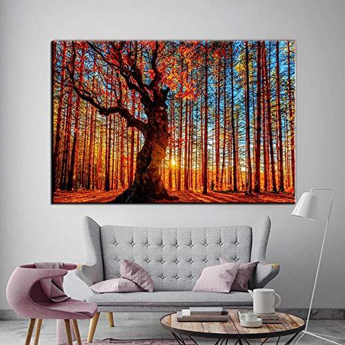 1000pcs_Wooden Adult Puzzle_Tall Tree Forest_Puede usarse como una Bola de estrés para Adultos o un Juego de Rompecabezas_50x75cm