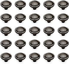 Emuca 9160014 Zamak Meubelknop, Zwart, 32 mm, Set van 25 stuks