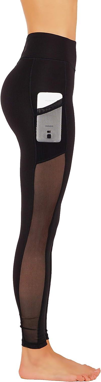 GD Fashion Leggings de Yoga pour Femme avec Poches latérales en Maille Gd56-m-blk
