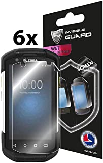 IPG Compatible with Zebra TC72 / TC77 Mobile Computer Handheld Screen Protector 6 Units Invisible Guard Free Lifetime Replacement Warranty HD Clear Bubble -Free Screen Protection