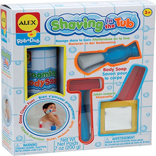 Read About Alex Rub a Dub Shaving in the Tub Kids Bath Activity