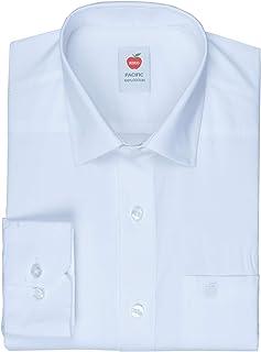 Riro Men's Full Sleeves Plain Cotton Regular Fit Formal/Traditional White Shirt