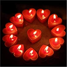 HK Balloons 25Pcs Tealight Candles, Romantic Heart-Shaped Scented Candles for Valentine's Day Wedding Birthday Christmas (...