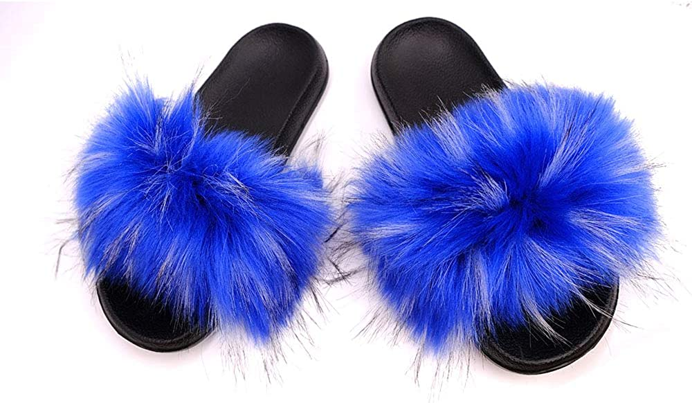 YYFURR Women's Fur Slide Slipper Very popular Sandal Faux Soft Daily bargain sale with Fox Furry
