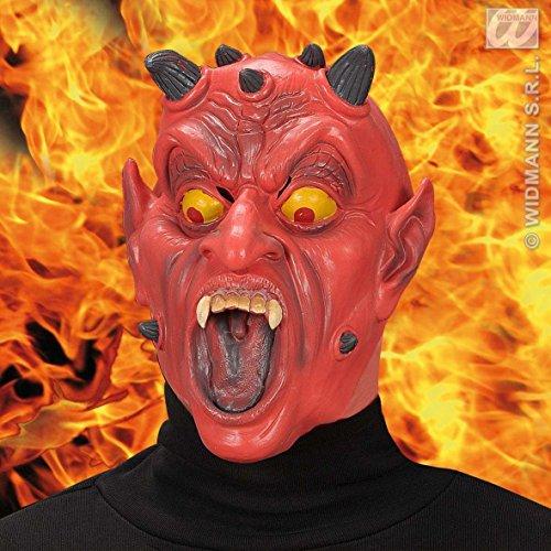 Widmann 1319d – Masque Demi Visage de Diable – Adulte
