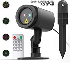 CACAGOO Christmas Projector Lights, 12 Patterns in 1 Laser Light Indoor Outdoor Christmas Laser Light with RF Remote Control for Hassle-Free Holiday Decorating Projector Lights, IP65 Waterproof
