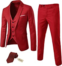 Amazon Com Men S Red Suit