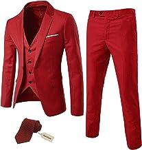 Amazon Com Men S Red Suit