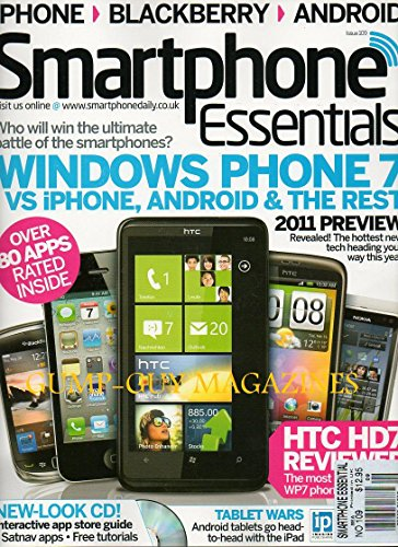 Smartphone Essentials NEW-LOOK CD: INTERACTIVE APP STORE GUIDE, SATNAV APPS FREE TUTORIALS2011 Preview WINDOWS PHONE 7 vs iPHONE, ANDROID & THE REST