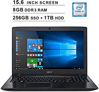 2019 Acer Aspire E5 15.6 Inch FHD Laptop (8th Gen Intel Core i3-8130U up to 3.4 GHz, 8GB RAM, 256GB SSD (Boot) + 1TB HDD, Intel HD Graphics 620, DVD, WiFi, Bluetooth, HDMI, Windows 10 Home)