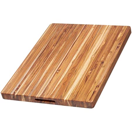 Teakhaus Edge Grain Carving Board W Hand Grip Rectangle 24 X 18 X 1 5 Kitchen Dining