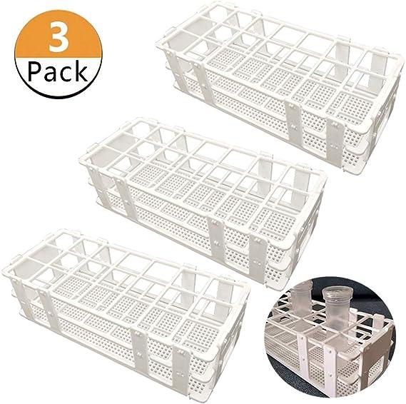 Pocomoco 3 Packs Plastic Test Tube Rack