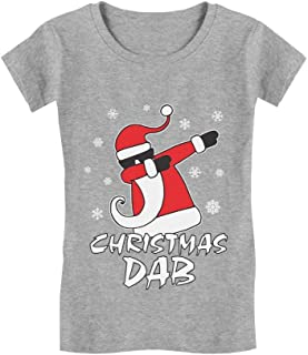 Dabbing Santa Christmas Dab Funny Ugly Xmas Toddler/Kids Girls' Fitted T-Shirt