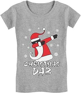 Dabbing Santa Christmas Dab Funny Ugly Xmas Toddler/Kids Girls' Fitted T-Shirt