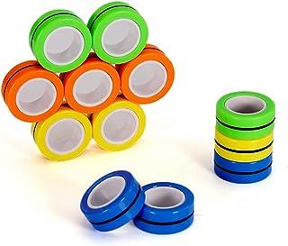 YWSHF 12PCS Magnetic Toys Magnetic Ring Toys, Colorful Decompression Fidget Unzip Magnetic fingertip Toys Bracelet, Magic ...