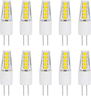 SumVibe G4 LED Bulb 20W, G4 Halogen Bulb Replacement, G4 Bulbs 2 Watt, Bi-Pin Base, AC/DC 12 Volt Daylight White 6000K, Non-Dimmable, 10-Pack