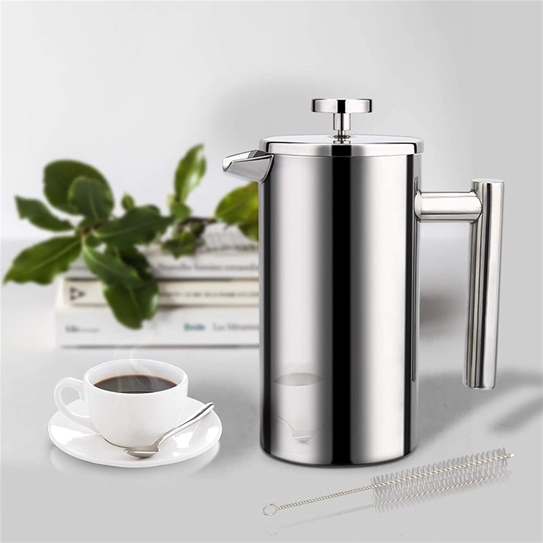 Xssbhsm Franse pers Koffiezetapparaat Koffiezetapparaat Franse pers Roestvrij staal Espresso Koffiemachine Dubbelwandige Geïsoleerde Pot 1000ml (kleur: 1000ml) 1000 ml