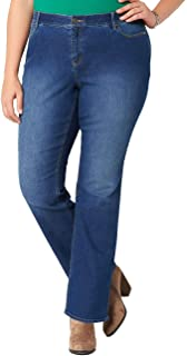 Joe Wenko Womens Vogue High Waisted Bootcut Trousers Flare Jeans Denim Pants