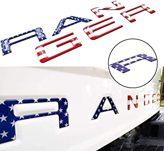 Funsport 3D Raised Emblems Tailgate Inserts Letters Fits 2019-2020 Ford Ranger(Fit Flag Red)