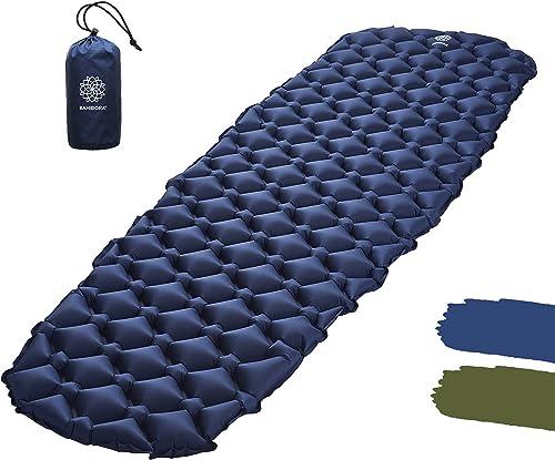 KeenFlex Camping Isomatte Schlafmatte Selbstaufblasend 4cm dick Leicht Wasserresistente Camping Luftmatratze zum Wandern Outdoor Backpacking