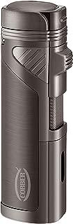 Cobber Torch Lighter, Quad 4 Jet Red Flame Refillable Butane Cigar Lighter with Punch (Gunmetal Gray)