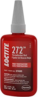 Loctite 492143 Threadlocker 272 High Temperature and High Strength Bottle, Red, 36-ml
