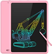 TECBOSS LCD Writing Tablet Colorful Large Screen, Electronic Digital Drawing Board Doodle Pad for Office School Home… (Pink)