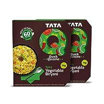 Tata Q Spicy Vegetable Biryani, 2 x 330 g