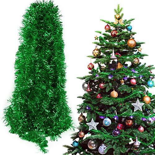 BHGT 6 Stück x 2m Weihnachten Lametta Girlande Metallisch Lametta Girlande Weihnachtsbaum Lametta Dekoration Lametta Draht Girlande für Weihnachten Dekoration
