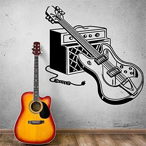 pegatina de pared Guitarra eléctrica Rock Música pop Música casera Decoración Instrumentos musicales Guitarra