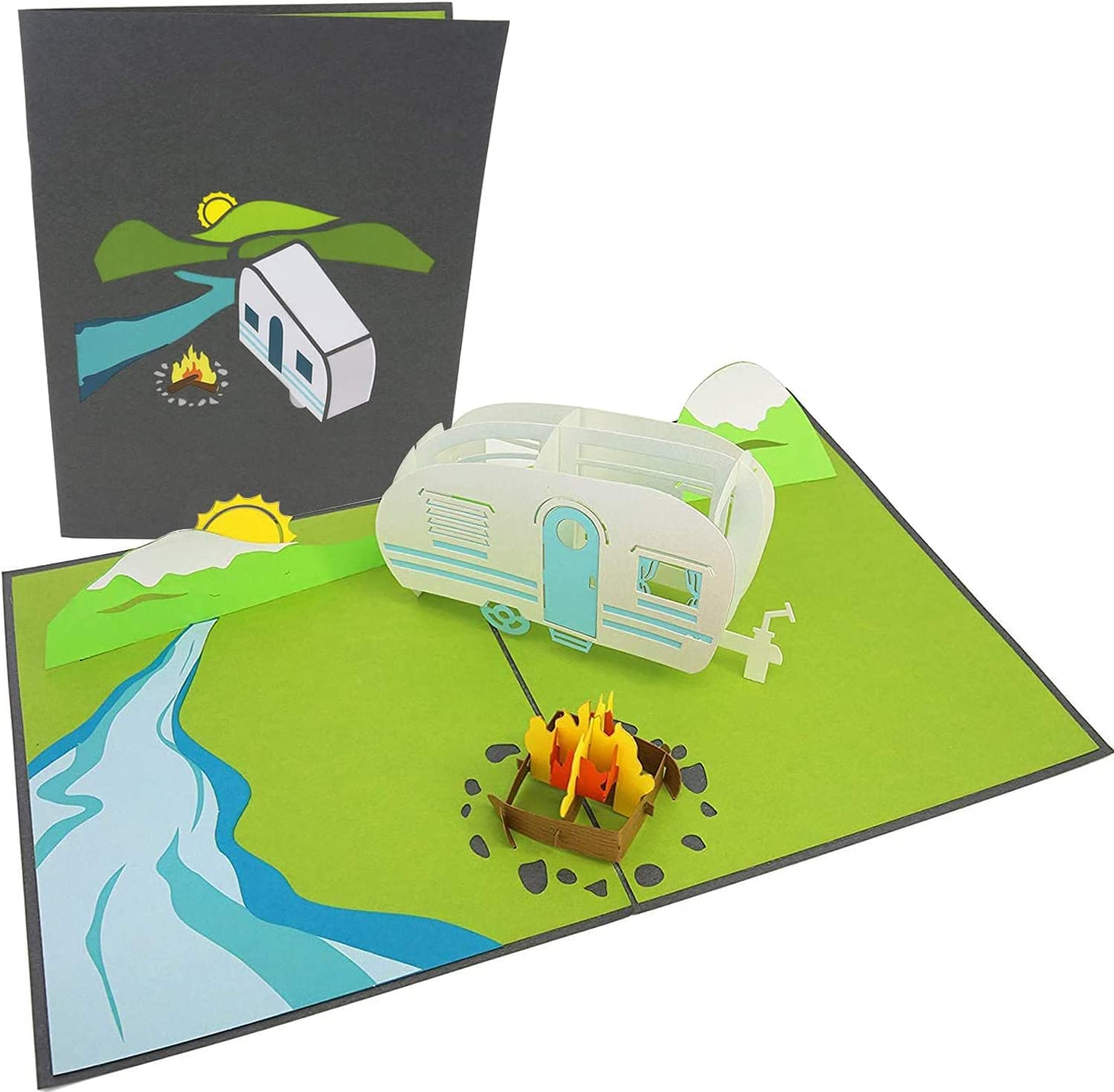 PopLife Camping Trip 3D Father's Day - Anniver Happy Card Spring new work one after another Pop Up Minneapolis Mall