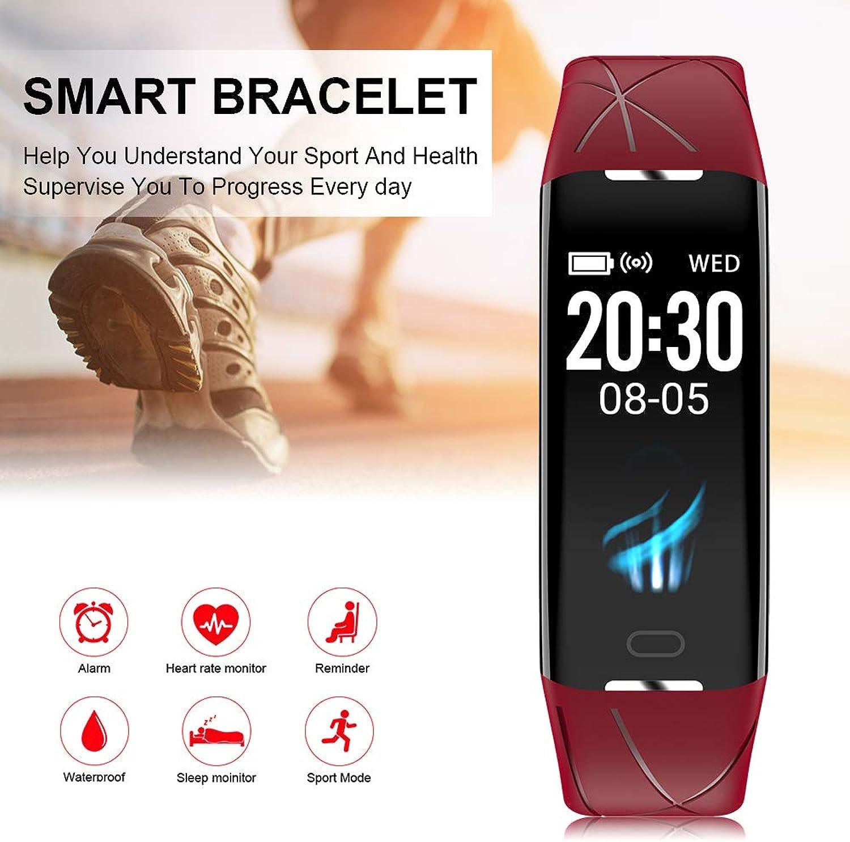 XCSOURCE Z21 Plus Red Waterproof IP67 Smart Bracelet Blood Pressure Sleep Monitor AC1856