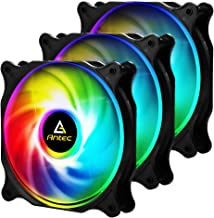 Antec 120mm RGB Case fan, RGB High Performance PC Fan, 4-pin RGB, F12 Series, 3 Packs